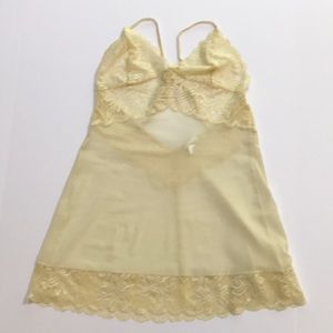Fredericks of Hollywood sheer lace camisole top